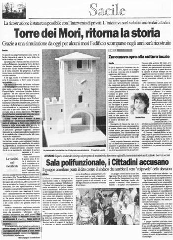 2005 Il Gazzettino di Sacile, Torre dei Mori, Ritorna la Storia.