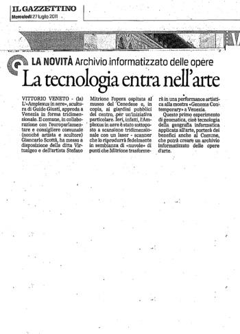 2011 Il Gazzettino di Venezia, Tecnologia e Arte.