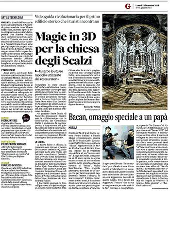 Magie in 3D per la Chiesa degli Scalzi.