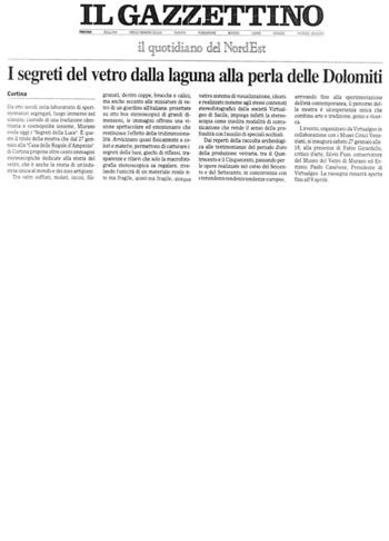 2007 Il Gazzettino di Cortina, Mostra Vetri di Murano, n2.